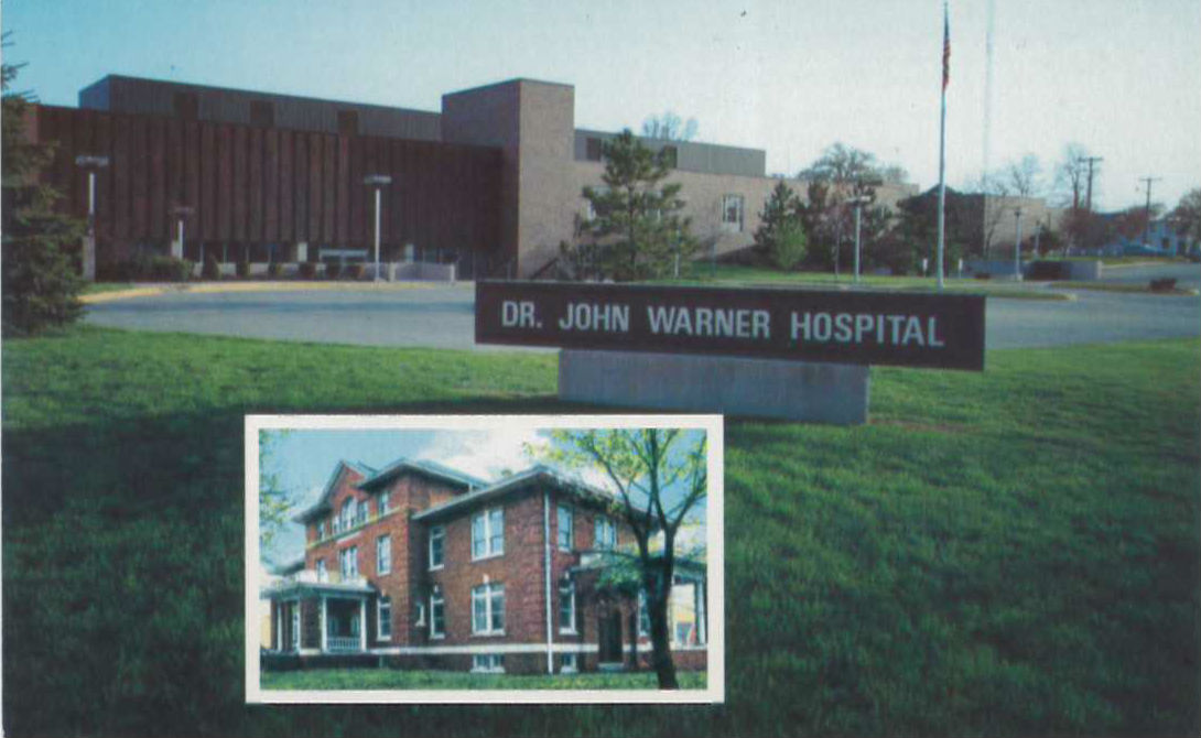 vintage photo of warner hospital