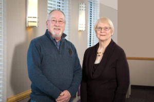 portrait of dave bowman and sue wittman, counselors at Warner Hospital