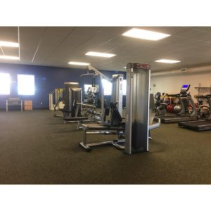 interior photo of newly renovated physical therapy department